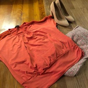 Coral Dress Shirt. Matches the Loft pants nicely!